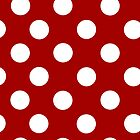 Red and White Polka Dot iPhone Case by giraffoarts