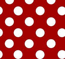 Red and White Polka Dot iPhone Case by giraffoarts