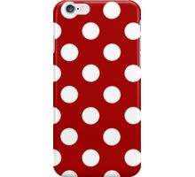Red and White Polka Dot iPhone Case iPhone Case/Skin