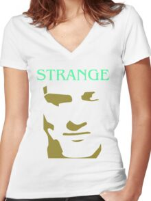 Morrissey Smiths Strange strangeways cartoon Women's Fitted V-Neck T-Shirt