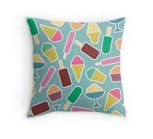 Seamless pattern with ice cream Throw Pillow