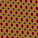 That 70's Design - Brown Orange Maroon on Black Background by Bryan Freeman