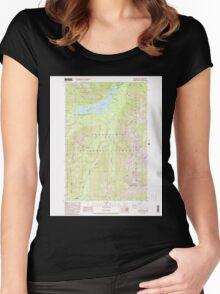 USGS Topo Map Washington State WA Bumping Lake 240267 1988 24000 Women's Fitted Scoop T-Shirt