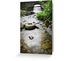 Small Waterfall Landscape Greeting Card