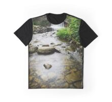 Small Waterfall Landscape Graphic T-Shirt