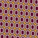 That 70's Design - Brown Pink Maroon on Orange Background by Bryan Freeman