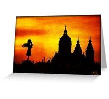 Sightseeing Angel Greeting Card