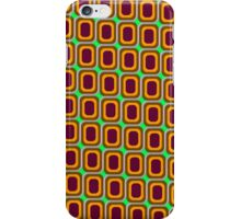 That 70's Design - Brown Orange Maroon on Lime Background iPhone Case/Skin