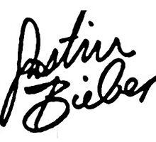 Justin Bieber Signature  by Victoria G