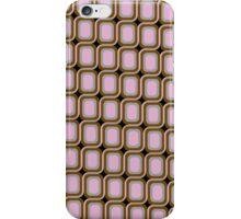 That 70's Design - Brown Grey Pink on Black Background iPhone Case/Skin