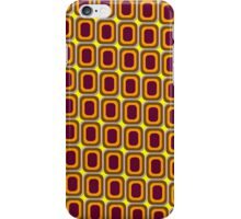 That 70's Design - Brown Orange Maroon on Yellow Background iPhone Case/Skin