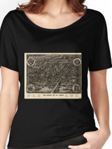 Panoramic Maps The heart of St Louis Women's Relaxed Fit T-Shirt