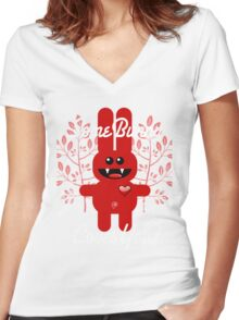 SOME BUNNY LOVES YOU! Women's Fitted V-Neck T-Shirt