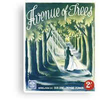 AVENUE OF TREES (vintage illustration) Canvas Print