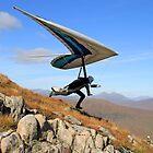 Hang Glider, Meall a' Bhùiridh, Scotland by asm1