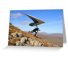 Hang Glider, Meall a' Bhùiridh, Scotland Greeting Card