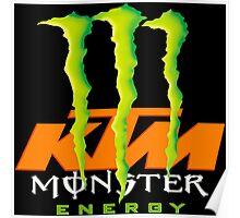 Monster Energy Drink KTM Racing Team Poster