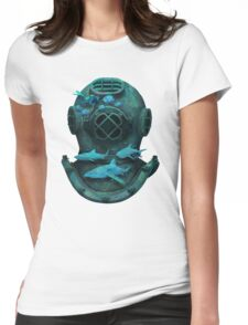 Deep diving Womens Fitted T-Shirt