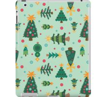 Eclectic Christmas Trees (Pattern) iPad Case/Skin