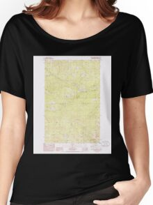 USGS Topo Map Washington State WA South Huckleberry Mtn 243875 1985 24000 Women's Relaxed Fit T-Shirt