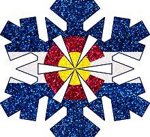 Glitter Colorado flag snowflake by artisticattitud