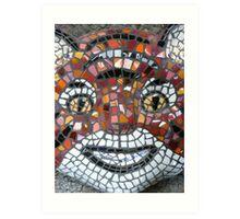 Mosaic Tiger mask Art Print