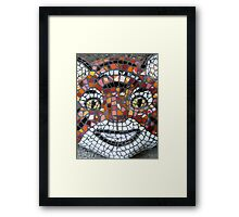 Mosaic Tiger mask Framed Print