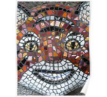 Mosaic Tiger mask Poster