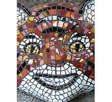 Mosaic Tiger mask Photographic Print