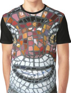 Mosaic Tiger mask Graphic T-Shirt