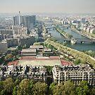 Europe: Paris, Eiffel Tower Views by Scott G Trenorden