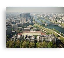 Europe: Paris, Eiffel Tower Views Canvas Print