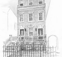DC house drawing by Mike Theuer