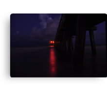 Naples Pier Before Dawn, As Is Canvas Print
