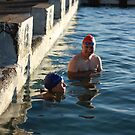 couple at newcastle baths by jane walsh