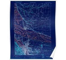 USGS Topo Map Oregon OR Portland 282797 1905 62500 Inverted Poster