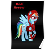Rainbow Dash Red Arrow Poster