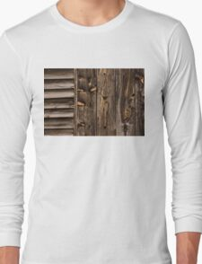 Weathered Wooden Abstracts - Three Long Sleeve T-Shirt