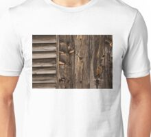 Weathered Wooden Abstracts - Three Unisex T-Shirt