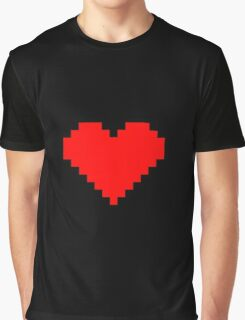 Pixel Heart- Red Graphic T-Shirt