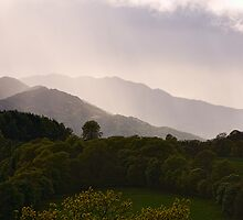 Rays on Misty Mountains by Tim Haynes