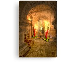 Flowers in the Crypt Canvas Print