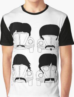 The Beatles -Black Graphic T-Shirt