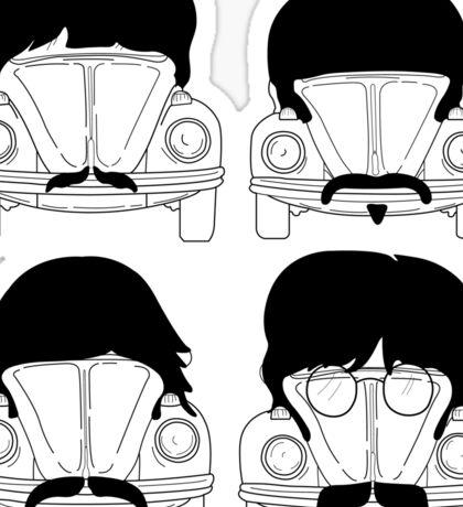 The Beatles -Black Sticker