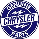 Chrysler Original Parts vintage sign. Flat version by htrdesigns