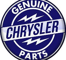 Chrysler Original Parts vintage sign. Crystal version by htrdesigns