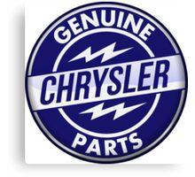 Chrysler Original Parts vintage sign. Crystal version Canvas Print