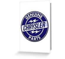 Chrysler Original Parts vintage sign. Crystal version Greeting Card