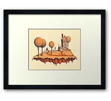 No More Church For These Two Men Framed Print