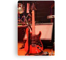 Red Guitar During Concert Canvas Print